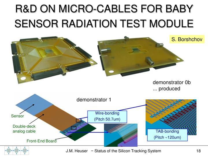 R&D ON MICRO-CABLES FOR BABY SENSOR RADIATION TEST MODULE
