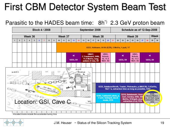 First CBM Detector System Beam Test