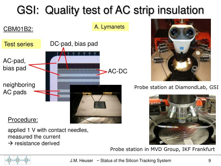 GSI:  Quality test of AC strip insulation