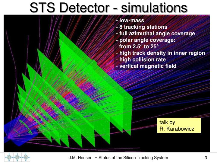 STS Detector - simulations