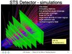 sts detector simulations