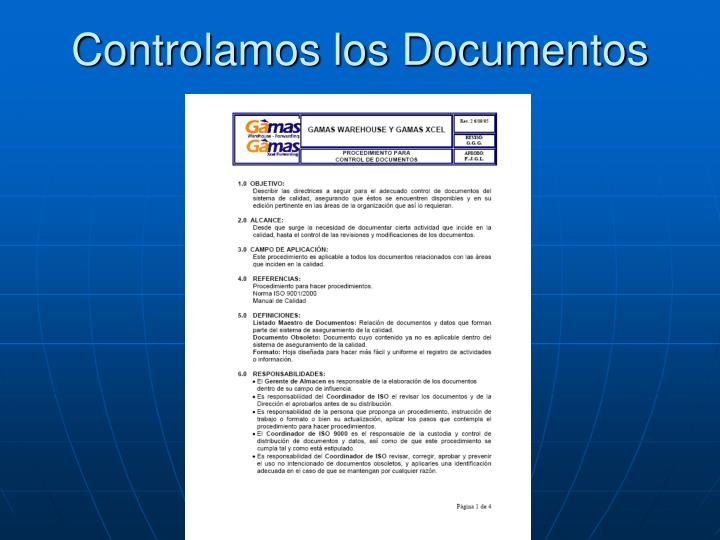 Controlamos los Documentos
