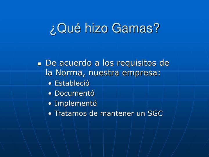 ¿Qué hizo Gamas?