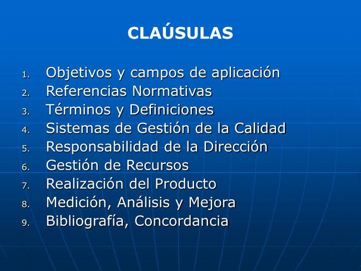 CLAÚSULAS