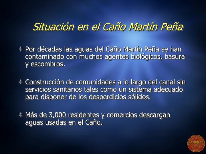 Situación en el Caño Martín Peña