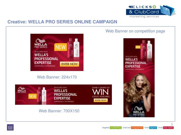 Creative: WELLA PRO SERIES ONLINE CAMPAIGN