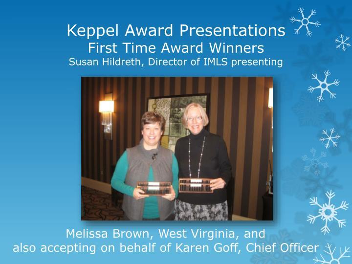 Keppel Award Presentations