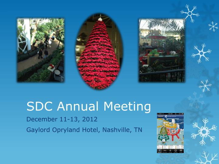 Sdc annual meeting