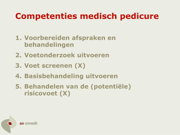 Competenties medisch pedicure