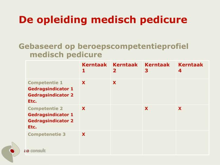 De opleiding medisch pedicure