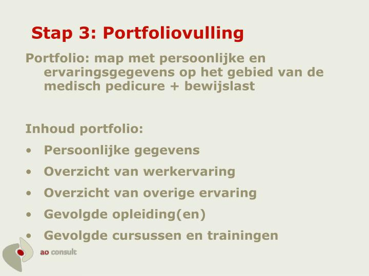 Stap 3: Portfoliovulling