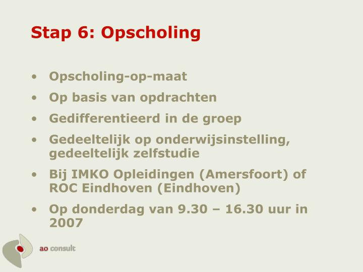 Stap 6: Opscholing