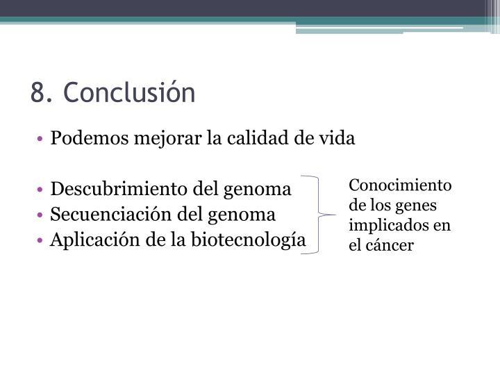 8. Conclusión