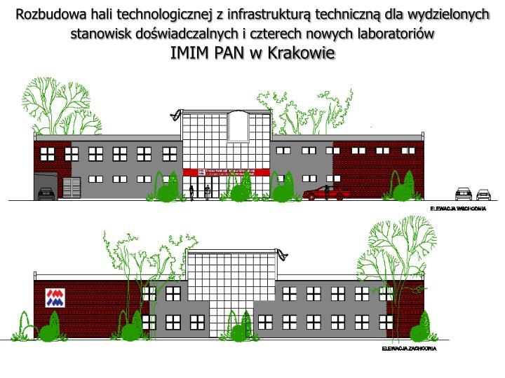 Rozbudowa hali technologicznej z infrastrukturą techniczną dla wydzielonych stanowisk doświadczalnych i czterech nowych laboratoriów