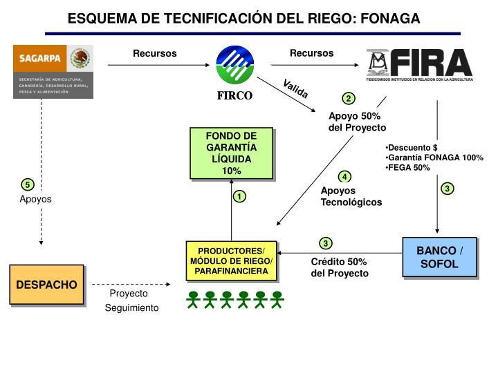 ESQUEMA DE TECNIFICACIÓN DEL RIEGO: FONAGA