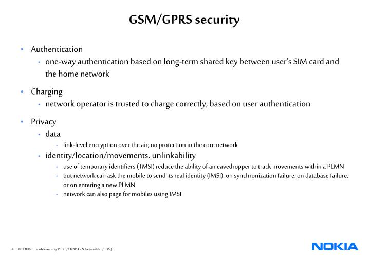 GSM/GPRS security