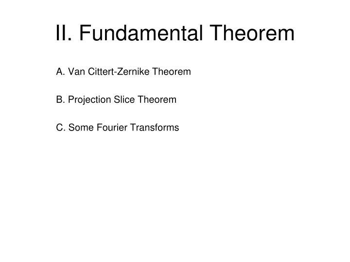 II. Fundamental Theorem