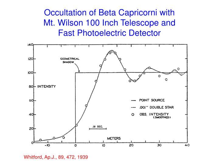 Occultation of Beta Capricorni with