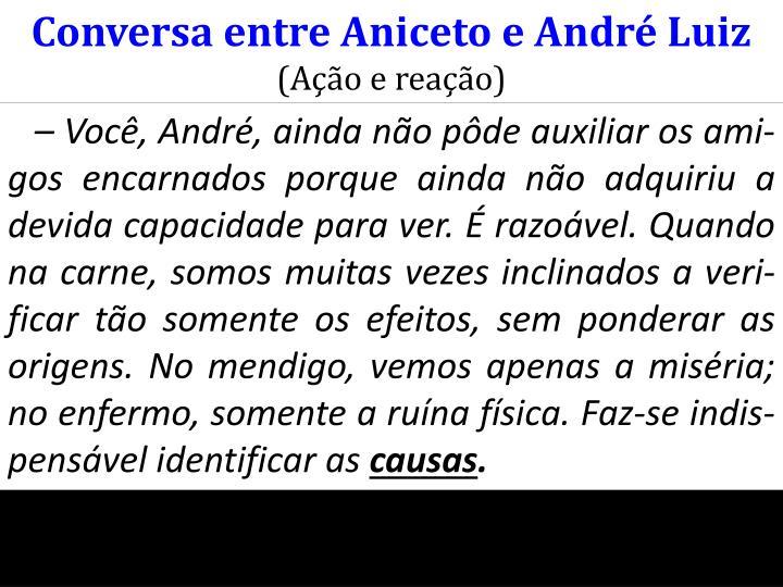 Conversa entre Aniceto e André Luiz