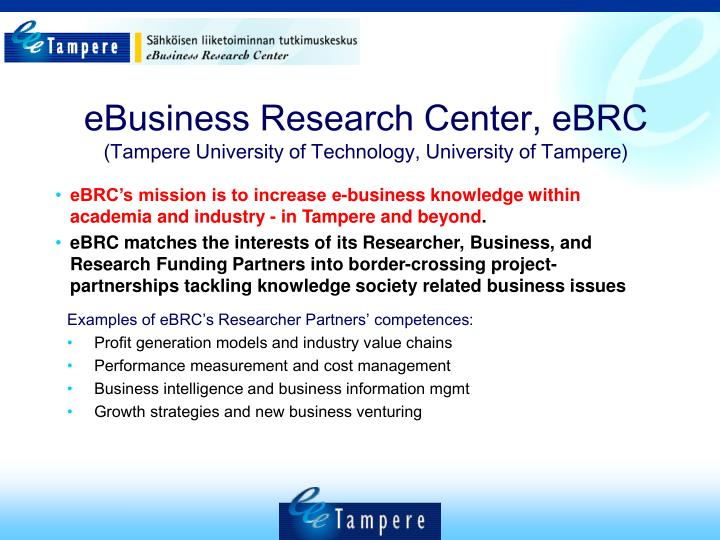 eBusiness Research Center, eBRC