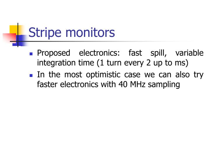 Stripe monitors