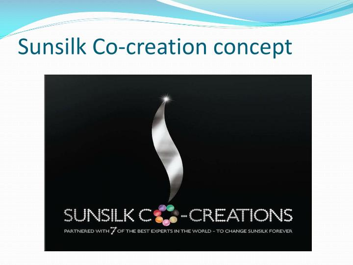 Sunsilk Co-creation concept