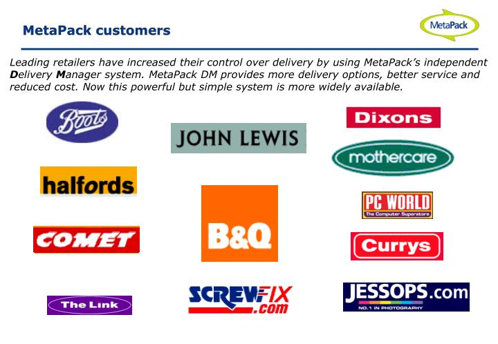 MetaPack customers