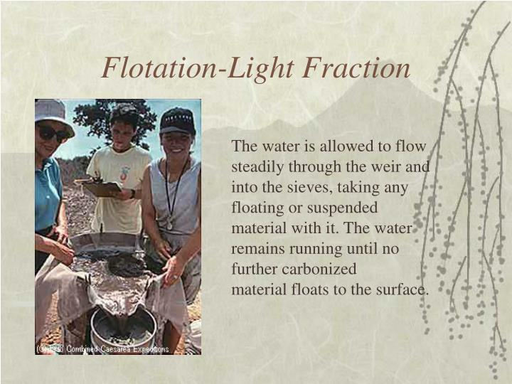 Flotation-Light Fraction