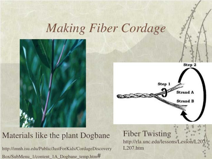 Making Fiber Cordage