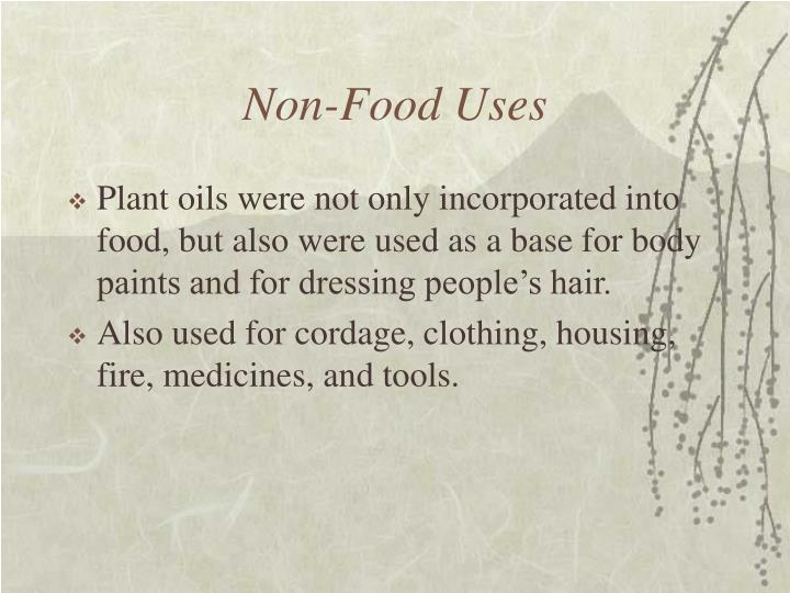Non-Food Uses