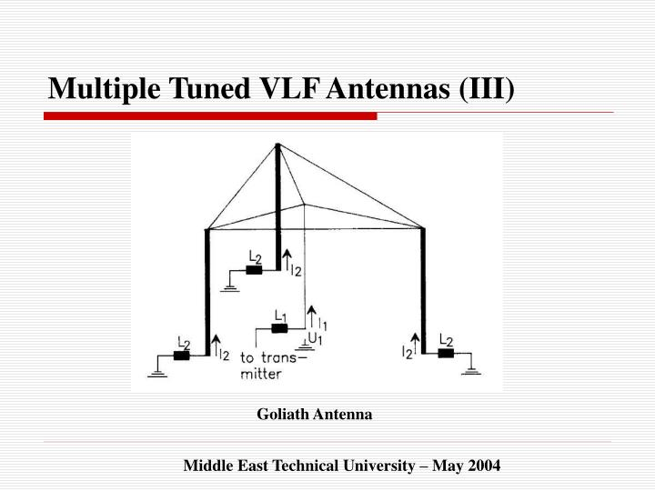 Multiple Tuned VLF Antennas (III)