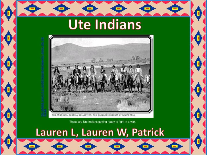 an introduction to the history of the ute indians