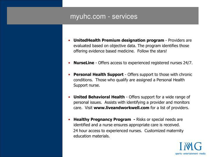 myuhc.com - services