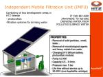 independent mobile filtration unit imfu