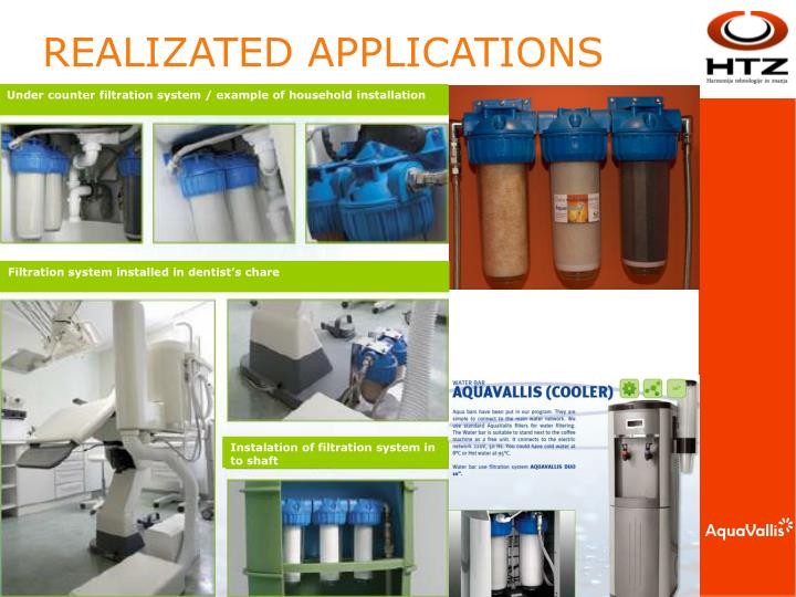 Under counter filtration system / example of household installation