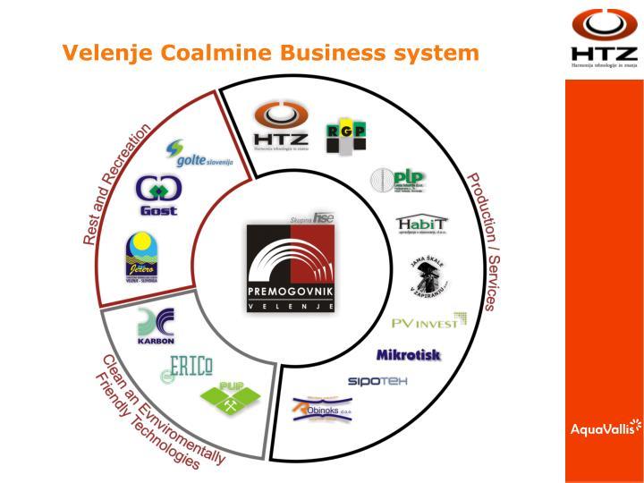 Velenje Coalmine Business system