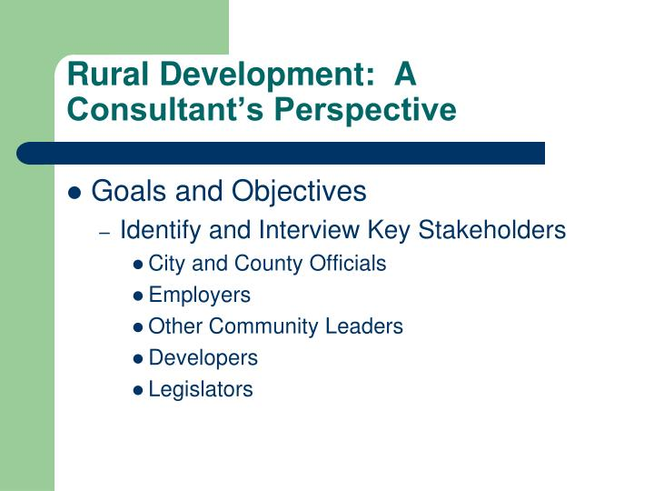 Rural development a consultant s perspective1