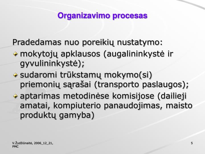 Organizavimo procesas