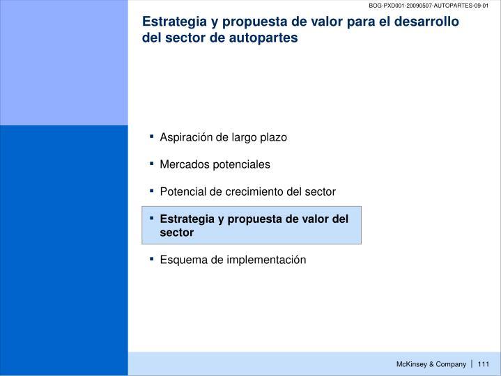 Estrategia y propuesta de valor para el desarrollo