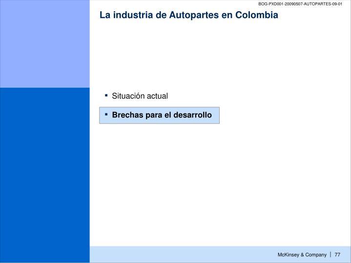 La industria de Autopartes en Colombia