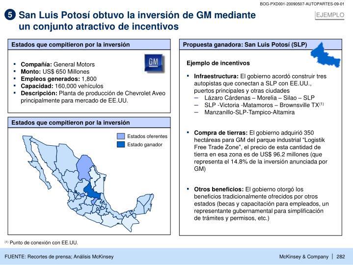 San Luis Potosí obtuvo la inversión de GM mediante