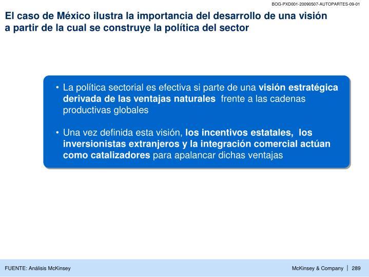 El caso de México ilustra la importancia del desarrollo de una visión