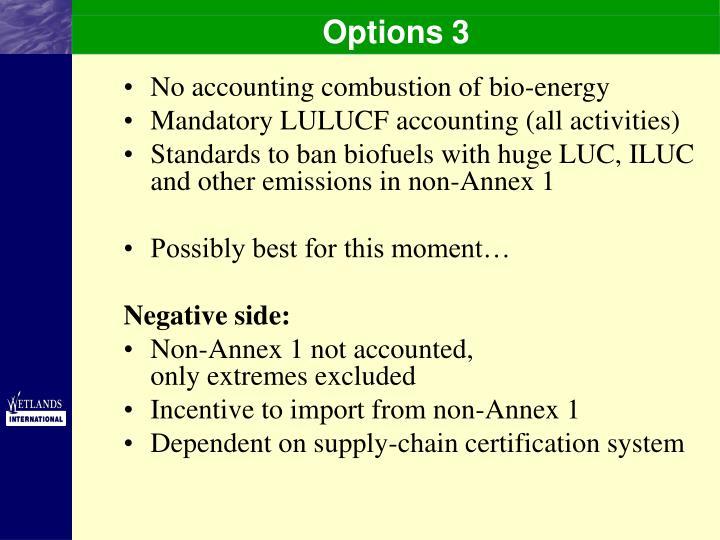 Options 3