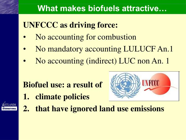 What makes biofuels attractive…