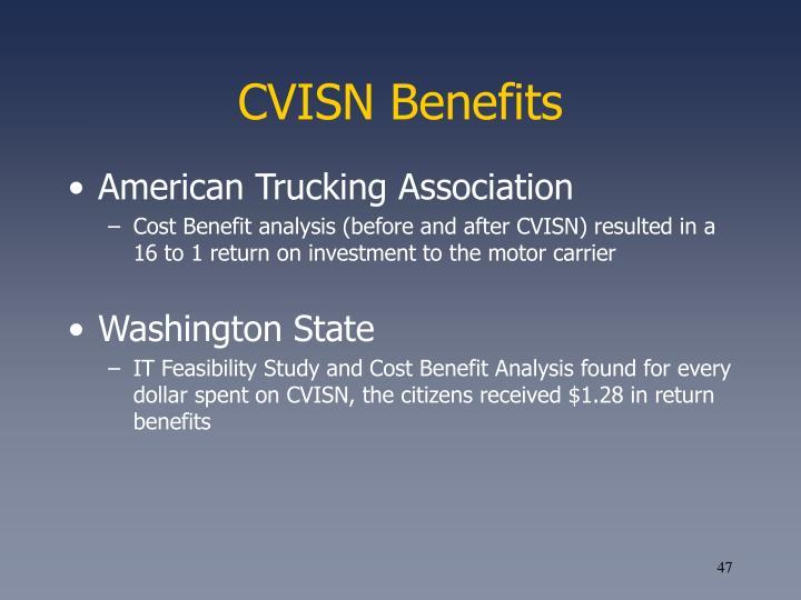 CVISN Benefits