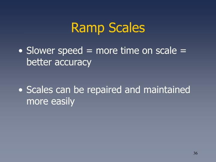 Ramp Scales