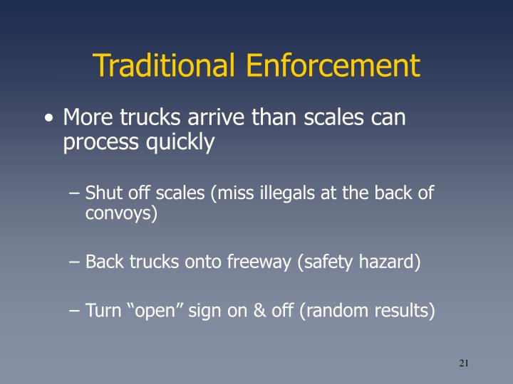Traditional Enforcement