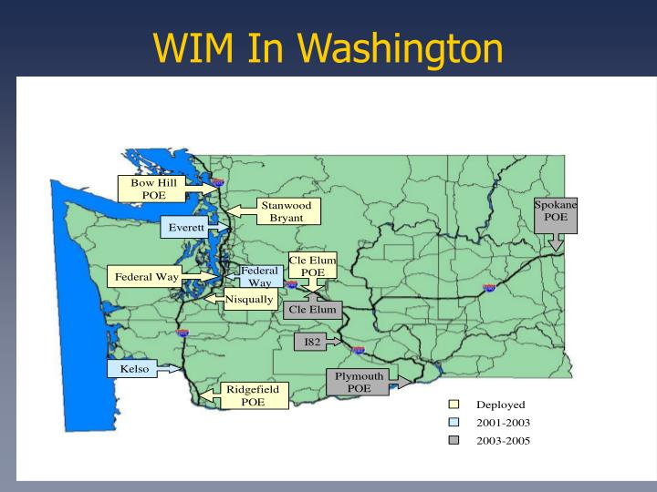 WIM In Washington