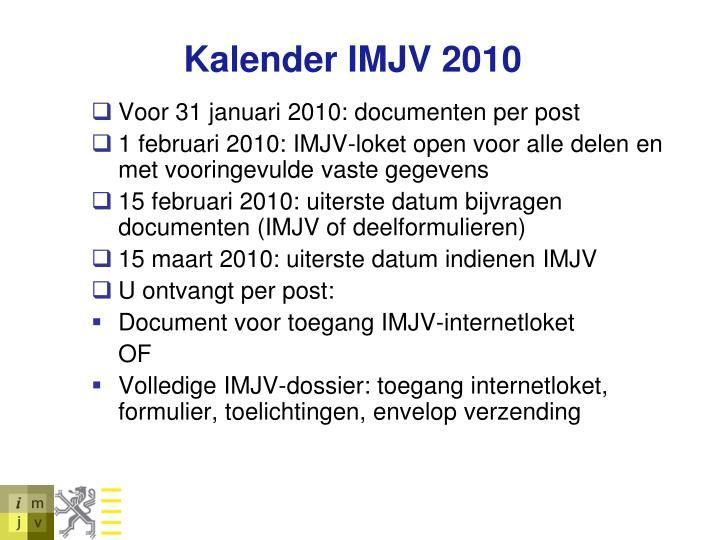 Kalender IMJV 2010