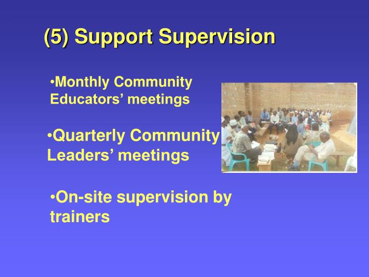 (5) Support Supervision
